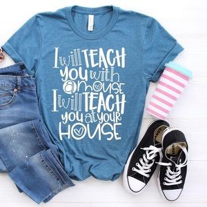 T-shirt, graphic tee, Teacher